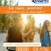 Επιτυχόντες του φροντιστηρίου εκπαίδευση 2019